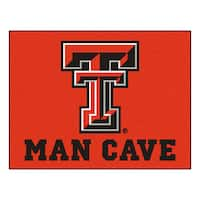 Fanmats Texas Tech University Red Nylon Man Cave Allstar Rug (2'8 x 3'8)
