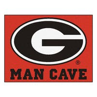 Fanmats University of Georgia Red Nylon Man Cave Allstar Rug (2'8 x 3'8)