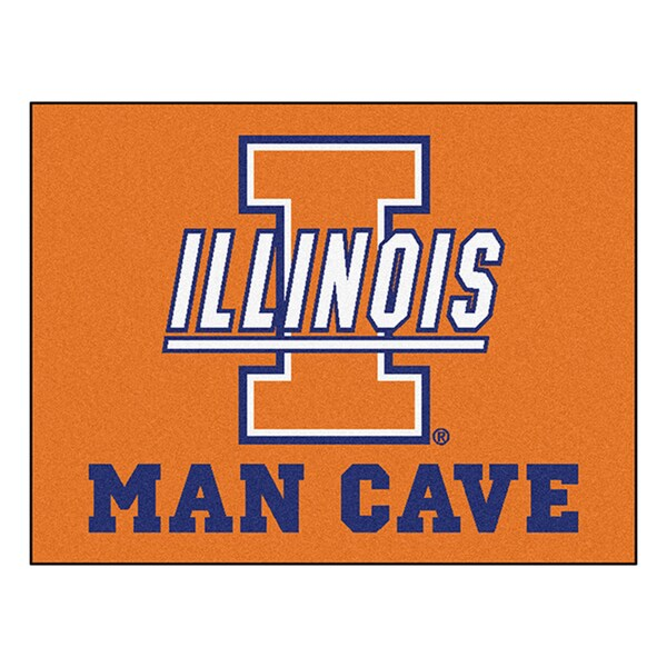 Fanmats University of Illinois Blue Nylon Man Cave Allstar Rug (2'8 x 3'8)