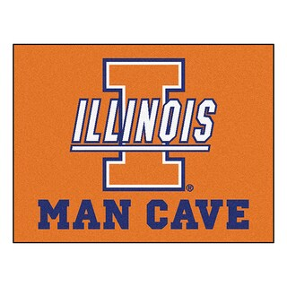 Fanmats University of Illinois Blue Nylon Man Cave Allstar Rug (2'8 x 3'8)