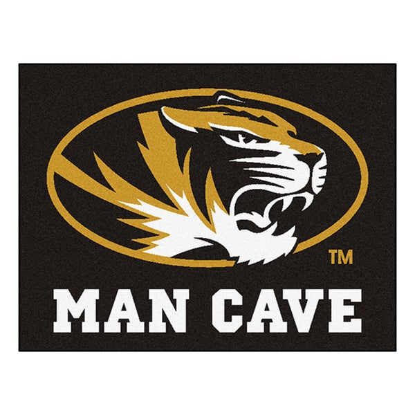 Fanmats University of Missouri Black Nylon Man Cave Allstar Rug (2'8 x 3'8)