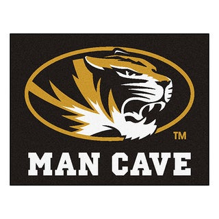 Fanmats University of Missouri Black Nylon Man Cave Allstar Rug (2'8 x 3'8)