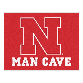 Fanmats University of Nebraska Red Nylon Man Cave Allstar Rug (2'8 x 3'8)