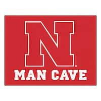 Fanmats University of Nebraska Red Nylon Man Cave Allstar Rug (2'8 x 3'8)