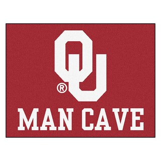 Fanmats University of Oklahoma Red Nylon Man Cave Allstar Rug (2'8 x 3'8)