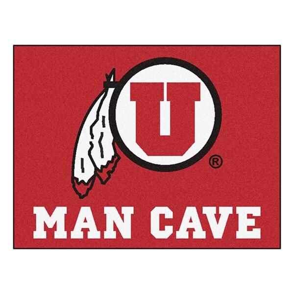 Fanmats University of Utah Red Nylon Man Cave Allstar Rug (2'8 x 3'8)