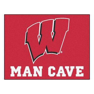 Fanmats University of Wisconsin Red Nylon Man Cave Allstar Rug (2'8 x 3'8)|https://ak1.ostkcdn.com/images/products/10036559/P17181955.jpg?impolicy=medium