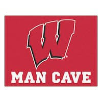 Fanmats University of Wisconsin Red Nylon Man Cave Allstar Rug (2'8 x 3'8)