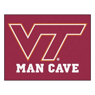 Fanmats Virginia Tech Burgundy Nylon Man Cave Allstar Rug (2'8 x 3'8)