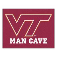 Fanmats Virginia Tech Burgundy Nylon Man Cave Allstar Rug (2'8 x 3'8)
