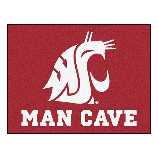 Fanmats Washington State University Burgundy Nylon Man Cave Allstar Rug (2'8 x 3'8)