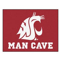 Fanmats Washington State University Burgundy Nylon Man Cave Allstar Rug (2'8 x 3'8)