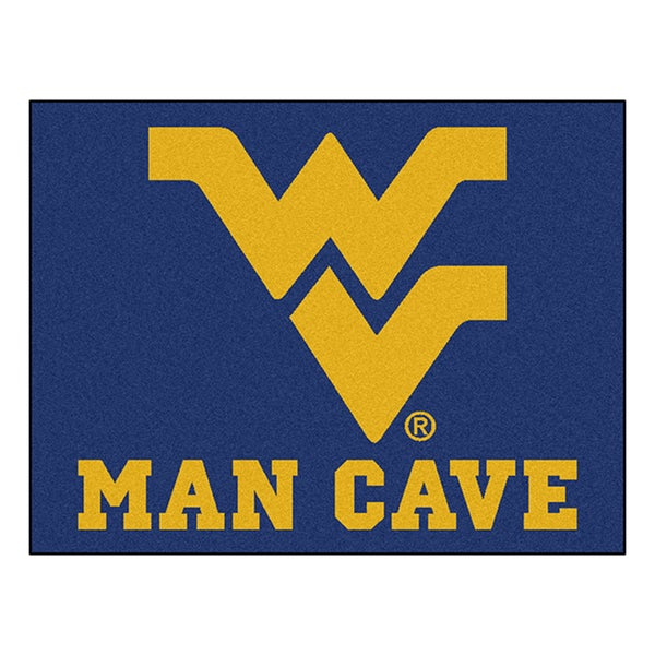Fanmats West Virginia University Blue Nylon Man Cave Allstar Rug (2'8 x 3'8)
