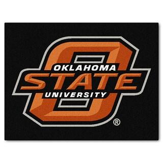 Fanmats Machine-Made Oklahoma State University Black Nylon Allstar Rug (2'8 x 3'8)
