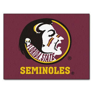 Fanmats Machine-Made Florida State University Red Nylon Allstar Rug (2'8 x 3'8)