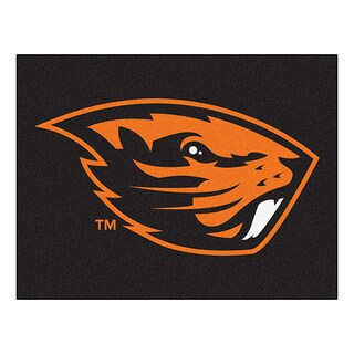 Fanmats Machine-Made Oregon State University Black Nylon Allstar Rug (2'8 x 3'8)
