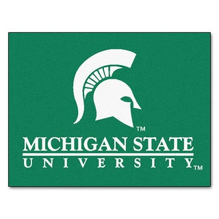 Fanmats Machine-Made Michigan State University Green Nylon Allstar Rug (2'8 x 3'8)