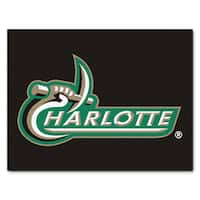 Fanmats Machine-Made University of North Carolina Charlotte Black Nylon Allstar Rug (2'8 x 3'8)