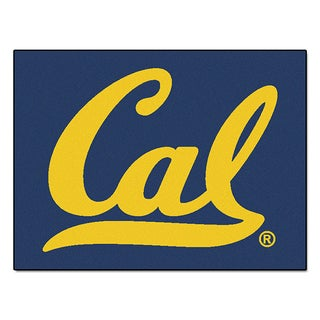 Fanmats Machine-Made University of California Berkeley Blue Nylon Allstar Rug (2'8 x 3'8)