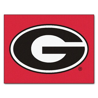 Fanmats Machine-Made University of Georgia Red Nylon Allstar Rug (2'8 x 3'8)
