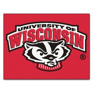 Fanmats University of Wisconsin Red Nylon Allstar Rug (2'8 x 3'8)