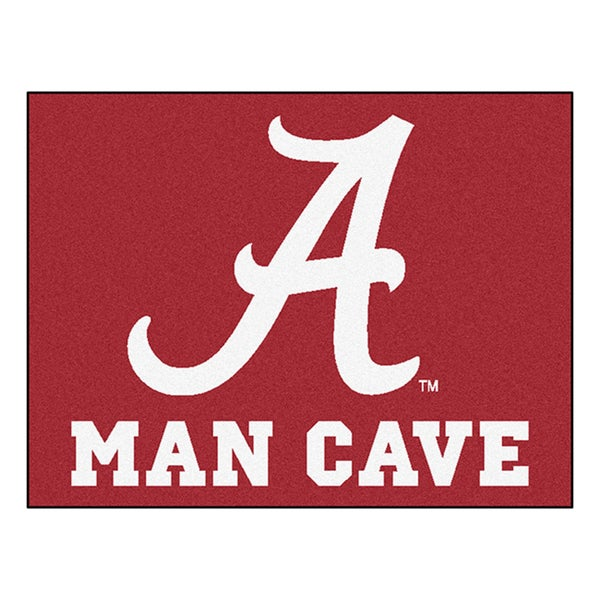 Fanmats University of Alabama Red Nylon Man Cave Allstar Rug (2'8 x 3'8)