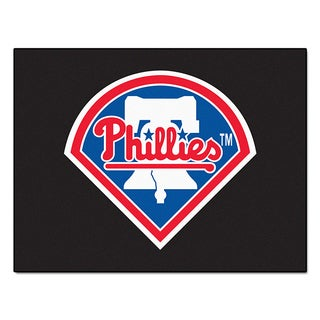 Fanmats Machine-Made Philadelphia Phillies Blue Nylon Allstar Rug (2'8 x 3'8)