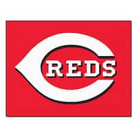 Fanmats Machine-Made Cincinnati Reds Red Nylon Allstar Rug (2'8 x 3'8)