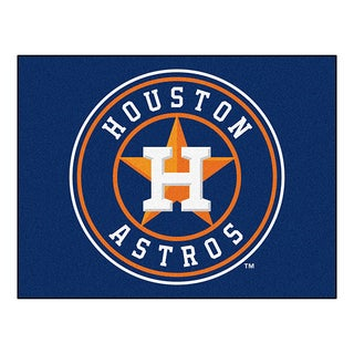 Fanmats Machine-Made Houston Astros Blue Nylon Allstar Rug (2'8 x 3'8)