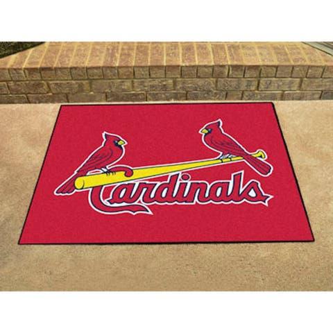 Fanmats Machine-Made St Louis Cardinals Blue Nylon Allstar Rug (2'8 x 3'8)