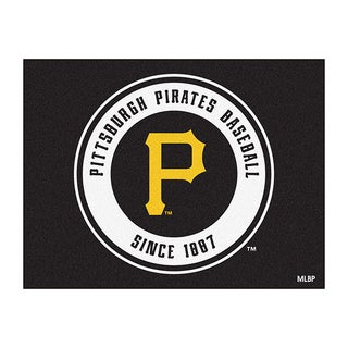 Fanmats Machine-Made Pittsburgh Pirates Black Nylon Allstar Rug (2'8 x 3'8)