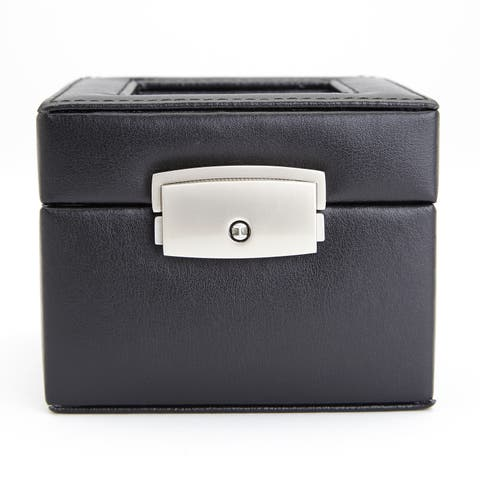 Royce Leather Luxury Two Slot Watch Box in Genuine Leather