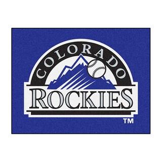 Fanmats Machine-Made Colorado Rockies Purple Nylon Allstar Rug (2'8 x 3'8)