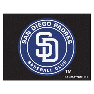 Fanmats Machine-Made San Diego Padres Black Nylon Allstar Rug (2'8 x 3'8)
