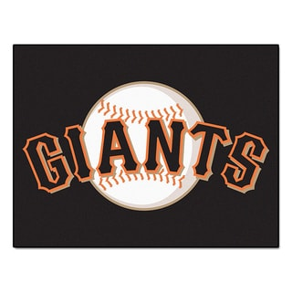 Fanmats Machine-Made San Francisco Giants Black Nylon Allstar Rug (2'8 x 3'8)