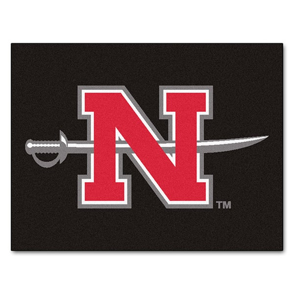 Fanmats Machine-Made Nicholls State University Black Nylon Allstar Rug (2'8 x 3'8)