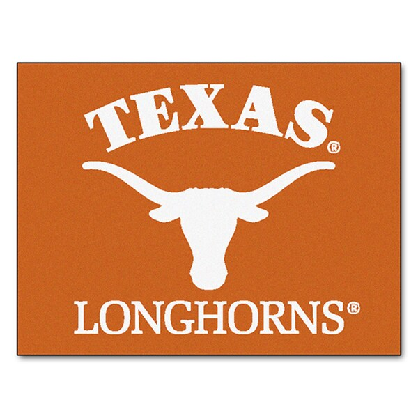 Fanmats Machine-Made University of Texas Orange Nylon Allstar Rug (2'8 x 3'8)