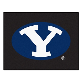 Fanmats Machine-Made Brigham Young University Black Nylon Allstar Rug (2'8 x 3'8)