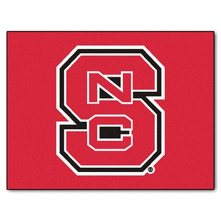 Fanmats Machine-Made North Carolina State Red Nylon Allstar Rug (2'8 x 3'8)