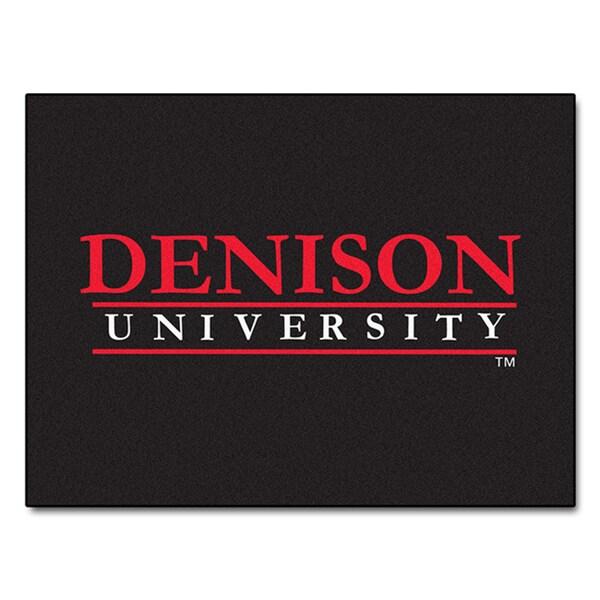 Fanmats Machine-Made Denison University Black Nylon Allstar Rug (2'8 x 3'8)