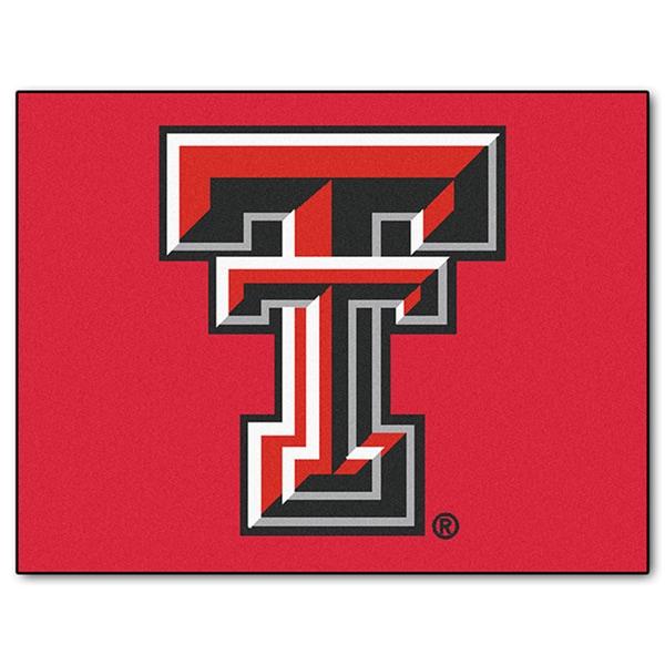 Fanmats Machine-Made Texas Tech University Red Nylon Allstar Rug (2'8 x 3'8)
