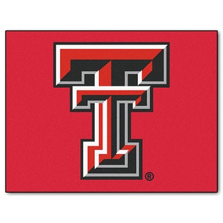 Fanmats Machine-Made Texas Tech University Red Nylon Allstar Rug (2'8 x 3'8)