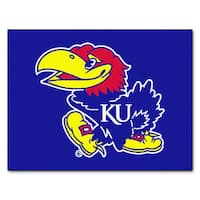 Fanmats Machine-Made University of Kansas Blue Nylon Allstar Rug (2'8 x 3'8)