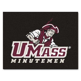 Fanmats Machine-Made University of Massachusetts Black Nylon Allstar Rug (2'8 x 3'8)