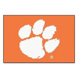 Fanmats Machine-Made Clemson University Orange Nylon Allstar Rug (2'8 x 3'8)