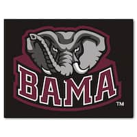 Fanmats Machine-Made University of Alabama Black Nylon Allstar Rug (2'8 x 3'8)