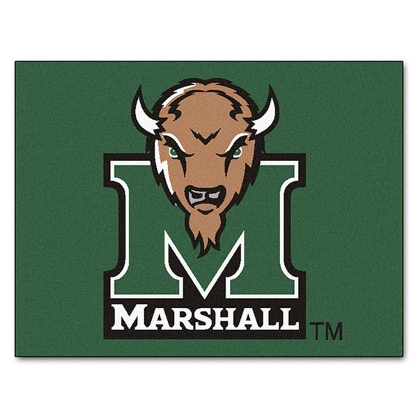 Fanmats Machine-Made Marshall University Green Nylon Allstar Rug (2'8 x 3'8)