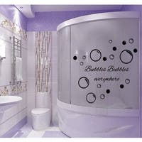 Bubbles Everywhere Bathroom Quote Vinyl Sticker Wall Art