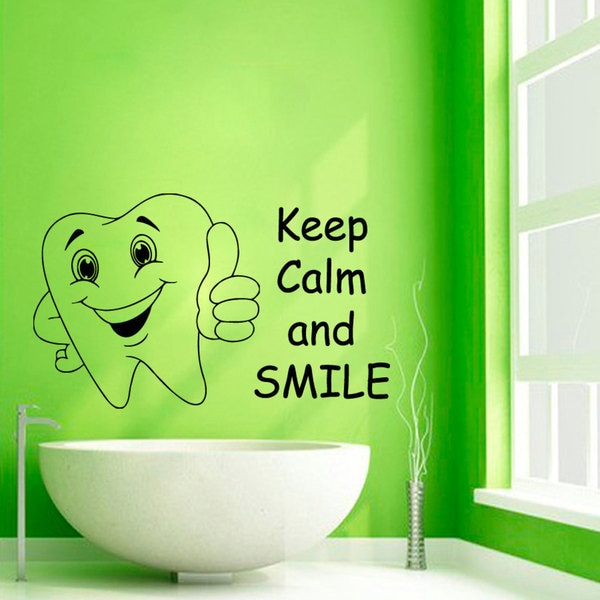 Keep Calm And Smile Quotes: Shop Keep Calm And Smile Quote Vinyl Sticker Wall Art
