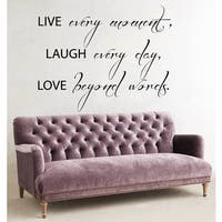 Live Laugh Love Quote Vinyl Sticker Wall Art
